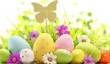 Easter pastel eggs