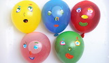 5 Wet Balloons Faces