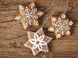 Snowflake cookies @ zastavki.com