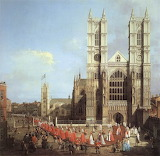 Westminster Abbey by Canaletto 1749