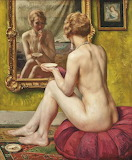 Paul sieffert reflections of Golden lady in the mirror