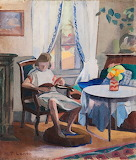 M.T Lanoa, Claude lisant dans le salon, 1922