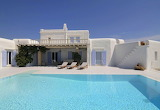 pretty mykonos villa and pool