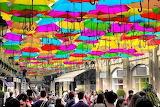Abstract Digital Art - Umbrella Sky