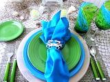 Aqua dinnerware