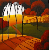 Road Of Autumn by Debbie Criswell