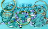 Beads & Bangles - Aqua tones