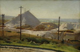 A China Clay Pit, Leswidden by Harold Harvey c.1922