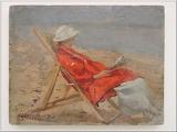 Louis-Edouard Garrido, Odette sur la plage, 1922