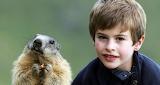 Portrait with a marmot
