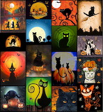 Collage 297 Halloween cats