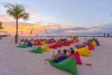 Bali, on the beach admiring the sunset
