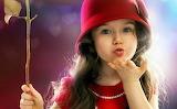 Cute Baby girl flying kiss