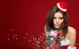 Hot-Christmas-Snow-Women-HD-Wallpapers