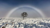 White rainbow photographed in Scotland