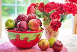 ^ Apples and flowers still life