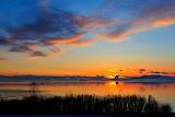 Sunset over Cook Inlet Anchorage Alaska