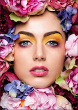Maquillaje floral