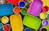 Rainbow colors of paint
