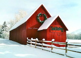 ^ The Red Barn In Sun Valley Photograph