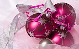 Christmas ornaments magenta