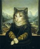 "Cats-art-prints ""Mona Lisa"""