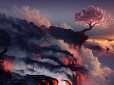 Eruption lava volcano oriental cherry tree 45542 1400x1050