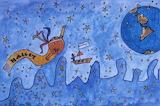 Giotto/Halley's Comet Children's Art, HQ-PHOTO-1986.X.22.1-23