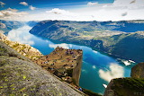 Lysefjord cliff, Norway