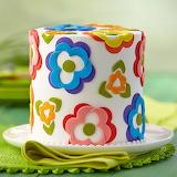 ^ Fondant Flower Cake