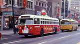 Dayton Christmas trolley bus in 1968
