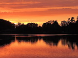 Sunset at Newmillerdam by Terry Thorpe