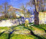 Guy Orlando Rose, La Maison bleue, Giverny, 1910
