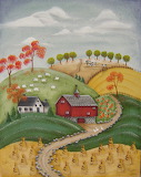 Red Barn in Autumn Janet