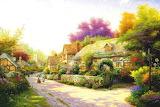 Village fleuri-peinture