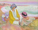 Henri Lebasque, On the beach, ca. 1914