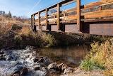 Pedestrian Bridge Over Stream-cherry-springs-idaho-bridge-stream