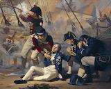 Lord Admiral Nelson Felled at Trafalgar 1805 by Russ Kramer