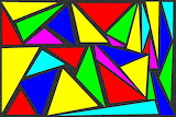 Colorful abstract geometric