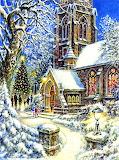 church into the snow