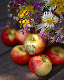 Manzanas y Flores