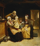 he Visit To The Grandparents by Adolph Tidemand