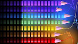 ^ Striped rainbow colored pencils