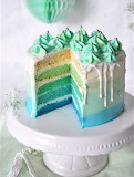 Lime ombre cake
