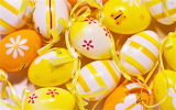 #Ribboned Easter Eggs