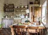 Rustic kitchen and dining
