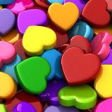 Multi Colored Hearts...