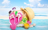 See, ocean, beach, bag, hat, accessories, sunglasses
