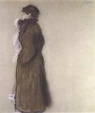 Edgar Degas, Femme en costume de ville, portrait d'Ellen Andre