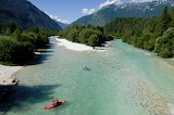 Kayaking River Soca Slovenia